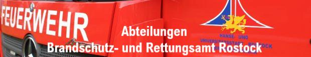 Abteilungen vom Brandschutz- und Rettungsamt Rostock e-Mail Telefon