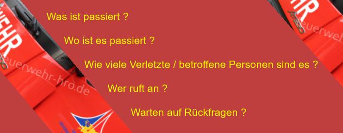 Notruf in der Leitstelle Rostock richtig absetzen!