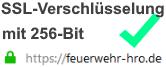 128 Bit Verschlüsselung für feuerwehr-hro.de
