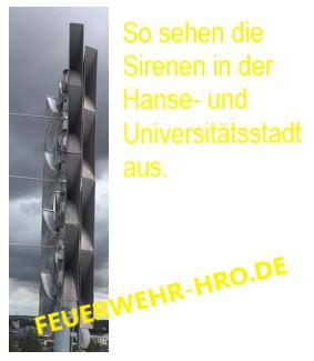 Sirenen inn der Hanse- und Universitätsstadt Rostock