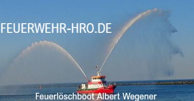 Feuerlöschboot von der Berufsfeuerwehr Rostock - Albert Wegener